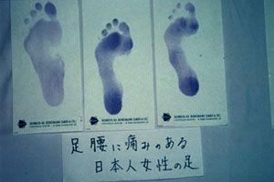 日本人の足の資料